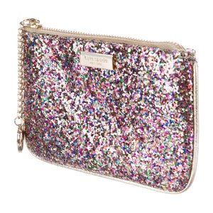 Kate Spade Pink Glitter embellished Coin Purse